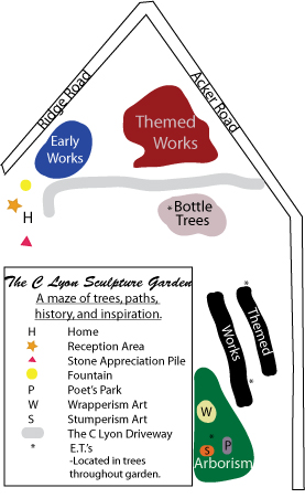 Map of The C Lyon Sculpture Garden Layout
